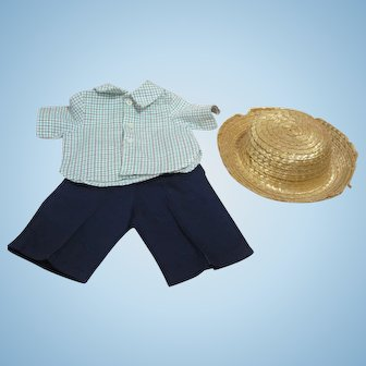 "Tagged outfit for 16"" Terri Lee, play clothes and hat"