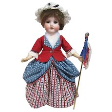 """AM 390 Patriotic 4th of July Girl, 15"""" tall"""