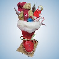 Santa boot with Vintage toys