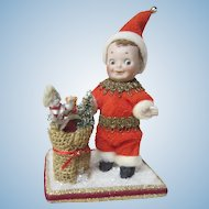 German all bisque Googly Christmas Elf