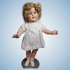 "Shirley Temple 18"" Ideal composition, with original wig"