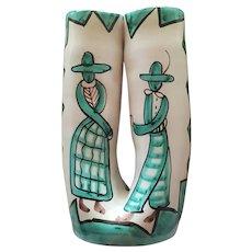 Bitossi Italian Pottery Double Vase
