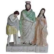 C1860 Victorian Staffordshire  Figure ~ Saul Presenting Daughter to David