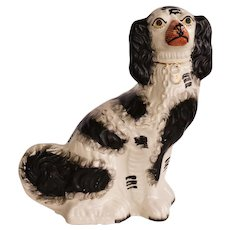 C1880 Large Antique Staffordshire Spaniel Dog