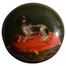 Antique French Snuff Box ~ Spaniel Dog