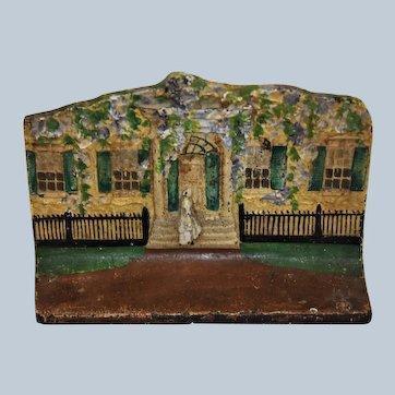 Antique Cast Iron Doorstop ~ Southern Belle House