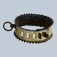 C1800 Antique Spiked Brass Dog Collar