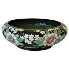 Large Antique Chinese Cloisonné Brush Washer Bowl