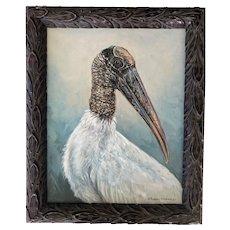 Oil Painting ~ Wood Stork Portrait