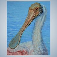 Large Oil Painting ~ Roseate Spoonbill