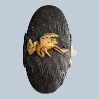 Antique Meiji Era Japanese Shakudo Ring