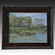 Small Oil Painting ~ Venice Audubon Rookery