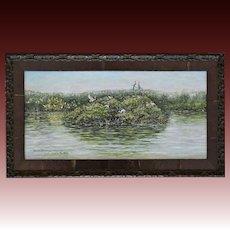 Small Oil Painting ~ Venice Florida Audubon Rookery