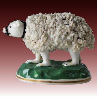 Rare Antique Staffordshire Porcelain Polar Bear C1830