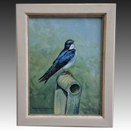 Tree Swallow Oil Painting