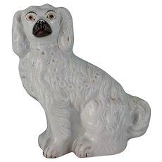 C1880 Victorian Staffordshire Spaniel Dog