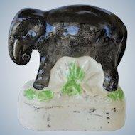 Small Antique Staffordshire Elephant C1860