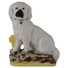 Antique Staffordshire Dog ~ Bearded Collie