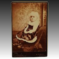 Antique Cabinet Photograph ~ Adorable Young Girl
