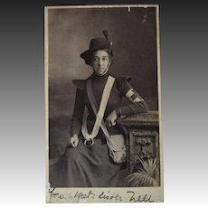 Large WW1  Red Cross Nurse Photograph