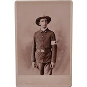 Antique Cabinet Photograph ~ Red Cross