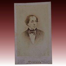 Victorian CDV Photo ~ Benjamin Disraeli