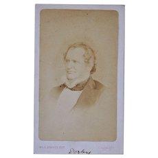 Victorian CDV Photo ~ Edward George Geoffrey Smith-Stanley, 14th Earl of Derby