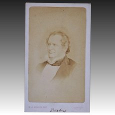 Victorian CDV Photo ~ Edward George Geoffrey Smith-Stanley, 14th Earl of Derby
