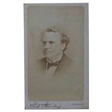 Victorian CDV Photo ~ Lord Stanley 15th Earl of Derby