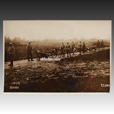 WW1 French War Dog Photograph ~ Delivering Ammo