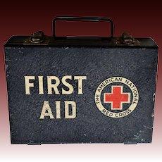 WW2 Era American National Red Cross Military First Aid Box
