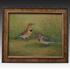 Yellow Shafted Flicker Woodpecker Oil Painting