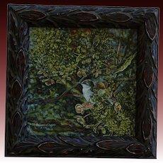 Female Ruby-Throated Hummingbird Oil Painting