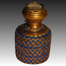 Antique French Palais Royal Opaline Glass Scent Bottle