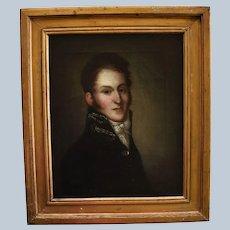 Antique Danish School Oil Painting ~ Sea Captain Johannes Krieger