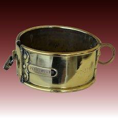Antique Belgian Brass Greyhound Dog Collar