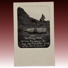 "Rare WW1 German Dog Mascot ""Wanda"" RPPC Postcard"