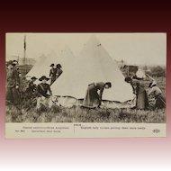 WW1 British Red Cross Nurses With Dog Postcard