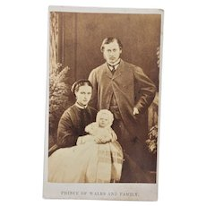 Victorian CDV Photo ~ Prince Of Wales And Family