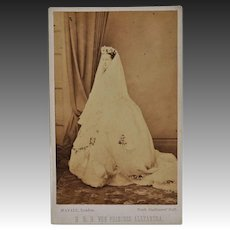 Victorian CDV Photo ~ H.R.H. The Princess Alexandra C1863
