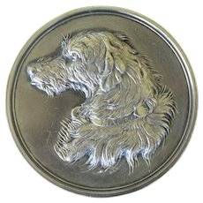 C1887 Antique Silver Philadelphia Kennel Club Medal ~ Wolfhound Dog