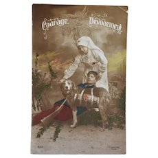 WW1 French Postcard ~ Red Cross Dog C1905 - Red Tag Sale Item