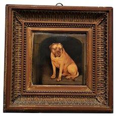 Miniature Painting By John William Bailey ~ Champion Mastiff Dog