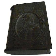 Antique Gutta Percha/Vulcanite Match Box with Edward VII