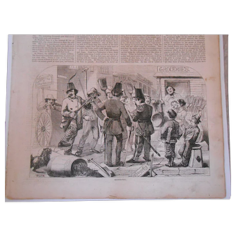 Antique Harper's Weekly Newspaper-October 24, 1857