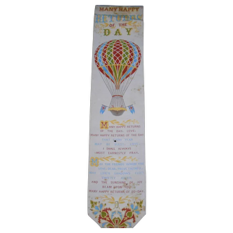 Antique Stevensgraph Woven Silk Book Mark-This one is Rare!