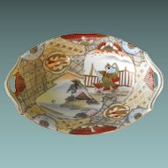 Nippon Oval Dish Handpainted  Circa: Pre 1921