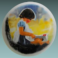 "Viletta collector plate : "" By Myself"" by Donald Zolan      Circa: 1980"