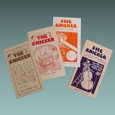 Advertising Periodicals The Knicker 1929