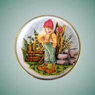 Italian Valentine Plate